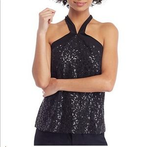 THE LIMITED Sequin Halter Top